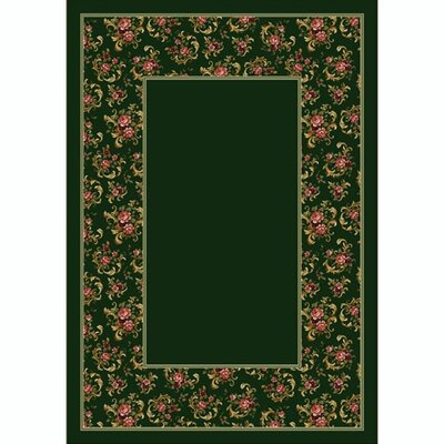 Design Center Olive Cameo Rose Area Rug Rug Size: Rectangle 54 x 78
