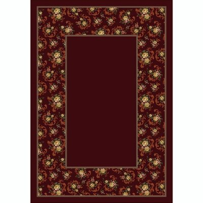 Design Center Garnet Cameo Rose Area Rug Rug Size: Round 77
