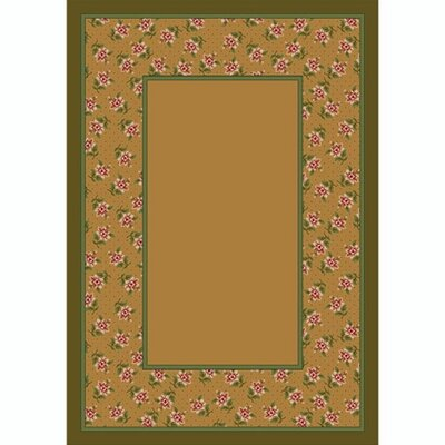 Design Center Maize Rambling Rose Area Rug Rug Size: Round 77