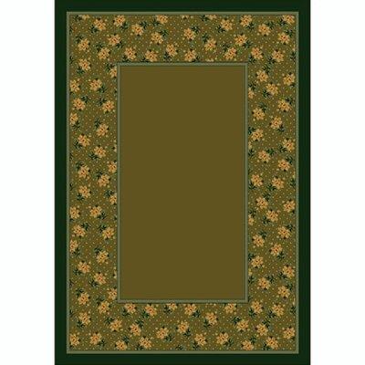 Design Center Tobacco Rambling Rose Area Rug Rug Size: 78 x 109
