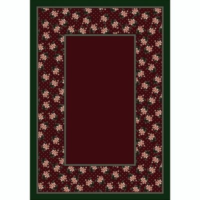 Design Center Garnett Rambling Rose Area Rug Rug Size: Rectangle 78 x 109