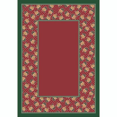 Design Center Rose Quartz Rambling Rose Area Rug Rug Size: Round 77