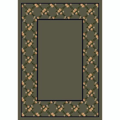 Design Center Sage Rose Bower Area Rug Rug Size: Rectangle 109 x 132