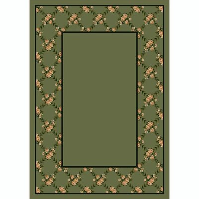 Design Center Moss Rose Bower Area Rug Rug Size: 78 x 109
