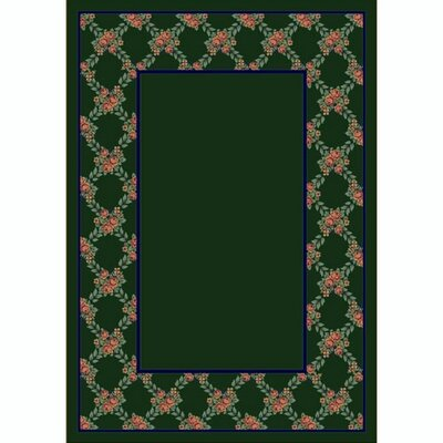 Design Center Emerald Rose Bower Area Rug Rug Size: Rectangle 109 x 132