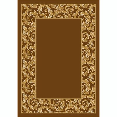 Design Center Goden Amber Corinthius Area Rug Rug Size: 109 x 132