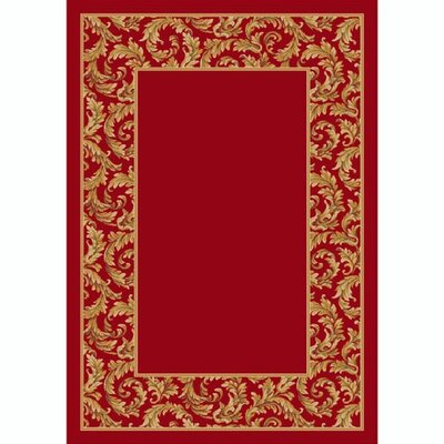 Design Center Ruby Corinthius Area Rug Rug Size: Rectangle 109 x 132