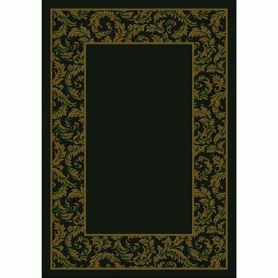 Design Center Dark Chocolate Corinthius Area Rug Rug Size: Rectangle 109 x 132