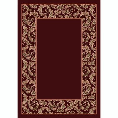Design Center Garnet Corinthius Area Rug Rug Size: Round 77