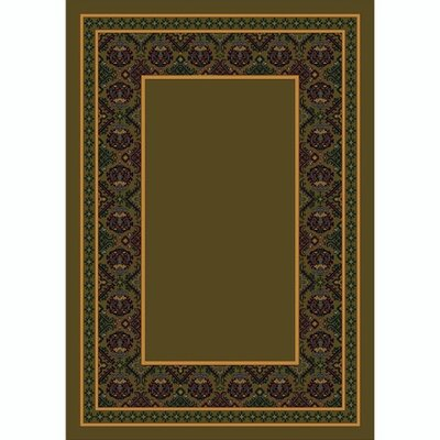 Design Center Khaki Turkoman Area Rug Rug Size: Round 77
