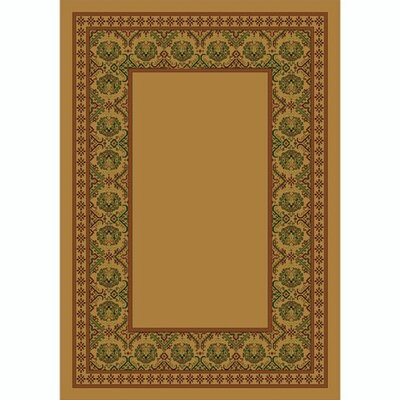 Design Center Maize Turkoman Area Rug Rug Size: 54 x 78