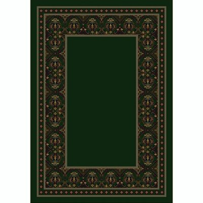 Design Center Emerald Turkoman Area Rug Rug Size: Runner 2'4
