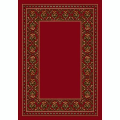 Design Center Brick Turkoman Area Rug Rug Size: Round 77