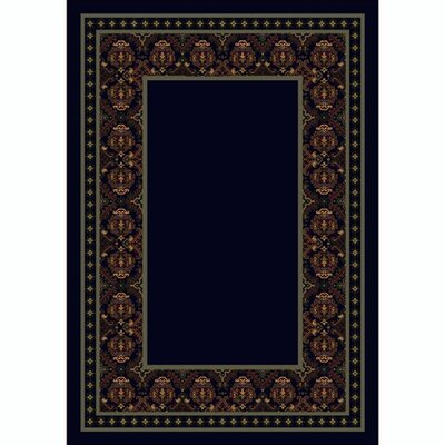Design Center Sapphire Turkoman Area Rug Rug Size: Round 77