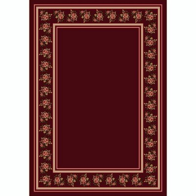 Design Center Cranberry Rosalie Area Rug Rug Size: Rectangle 54 x 78