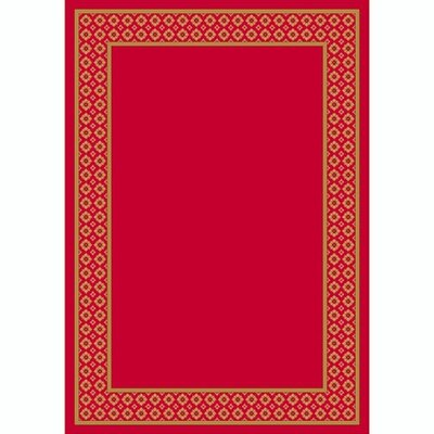 Design Center Ruby Foulard Area Rug Rug Size: Round 77