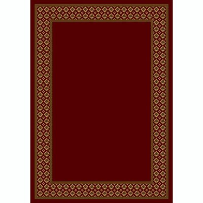Design Center Garnet Foulard Area Rug Rug Size: Round 77