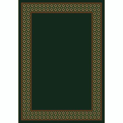 Design Center Emerald Foulard Area Rug Rug Size: Round 77