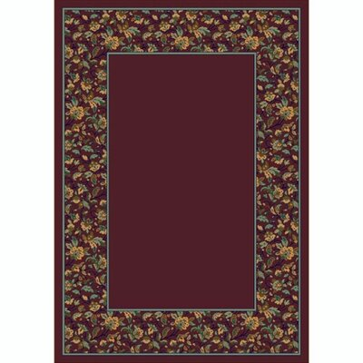 Design Center Garnet Marrakesh Area Rug Rug Size: Rectangle 109 x 132