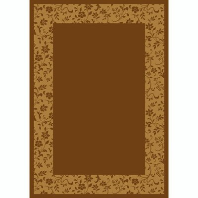 Design Center Golden Amber Brocade Area Rug Rug Size: Round 77
