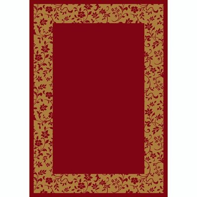 Design Center Brick Brocade Area Rug Rug Size: 109 x 132