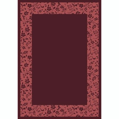 Design Center Garnet Brocade Area Rug Rug Size: Round 77