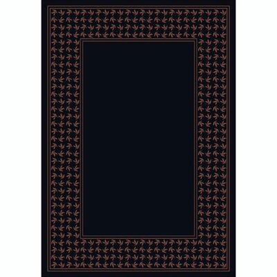 Design Center Onyx Windswept Area Rug Rug Size: Round 77