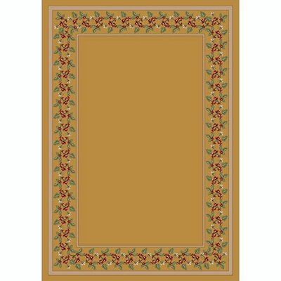 Design Center Pale Topaz Wildberry Area Rug Rug Size: Round 77