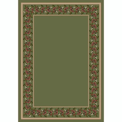 Design Center Moss Wildberry Area Rug Rug Size: Round 77