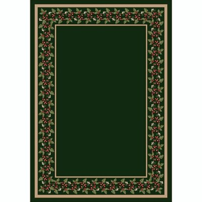 Design Center Olive Wildberry Area Rug Rug Size: Rectangle 109 x 132
