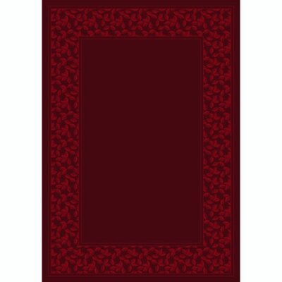 Design Center Cranberry Ivy League Area Rug Rug Size: 109 x 132