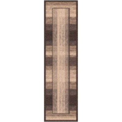 Modern Times Aspire Dark Brown Area Rug Rug Size: Rectangle 21 x 78
