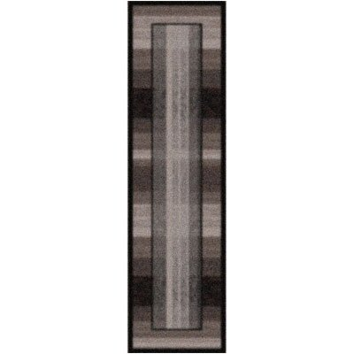 Modern Times Aspire Ebony Area Rug Rug Size: Rectangle 21 x 78