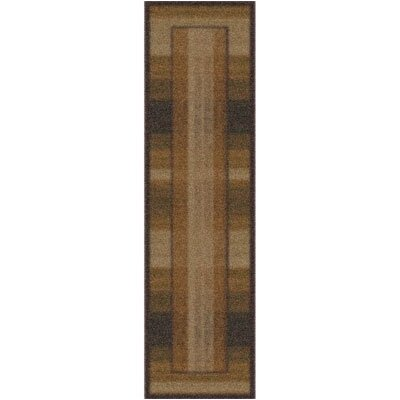 Modern Times Aspire Dark Chocolate Area Rug Rug Size: 21 x 78