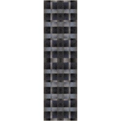 Modern Times Aura Charcoal Area Rug Rug Size: Rectangle 21 x 78