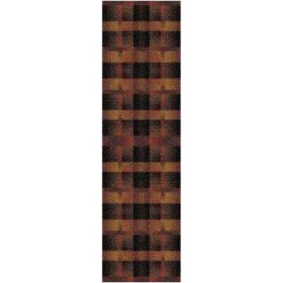 Modern Times Aura Caf� Cr�me Area Rug Rug Size: Rectangle 21 x 78