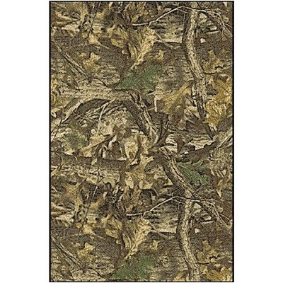 Realtree Timber Solid Camo Area Rug Rug Size: 28 x 310
