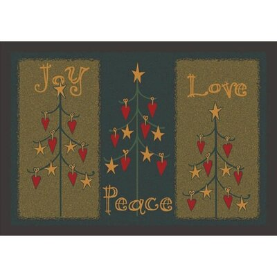 Winter Seasonal Folktree Winter Green Area Rug Rug Size: Rectangle 310 x 54