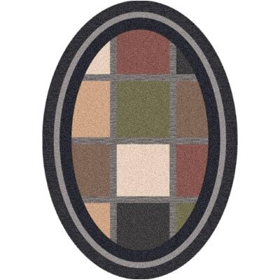 Pastiche Ababa Ebony Rug Rug Size: Oval 310 x 54