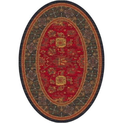 Pastiche Karshi Red Cinnamon Runner Rug Size: Oval 54 x 78