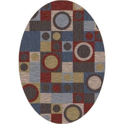 Pastiche Rialto Bluestone Oval Rug Rug Size: Oval 310 x 54