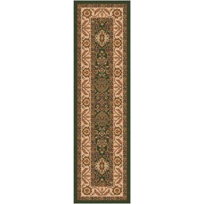 Pastiche Ababan Lance Green Contemporary Runner Rug Size: 21 x 78