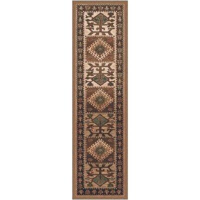 Pastiche Ahvas Brown Southwestern Runner Rug Size: 21 x 78