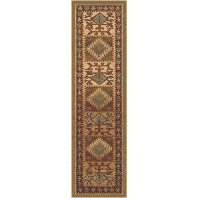 Pastiche Ahvas Latte Southwestern Runner Rug Size: 21 x 78