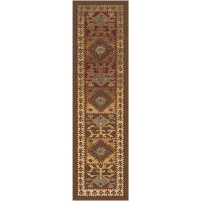 Pastiche Ahvas Toffee Southwestern Runner Rug Size: 21 x 78