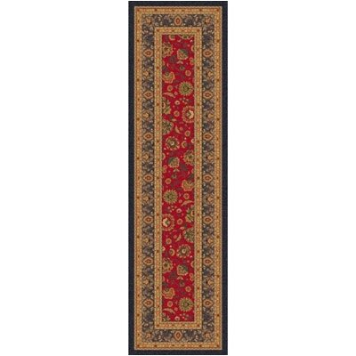 Pastiche Aydin Currant Red Runner Rug Size: 21 x 78