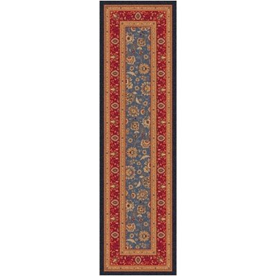 Pastiche Aydin Moor Blue Runner Rug Size: 21 x 78