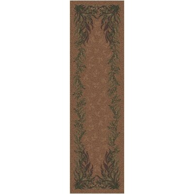 Pastiche Baskerville Sorrel Contemporary Runner Rug Size: 21 x 78