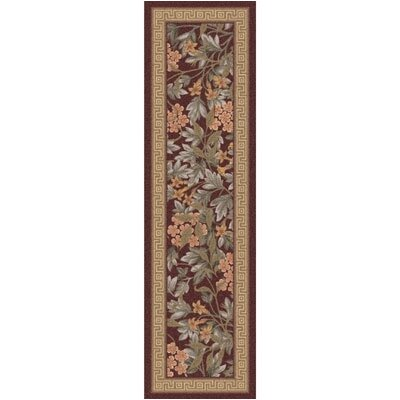 Pastiche Delphi Damask Red Runner Rug Size: 21 x 78