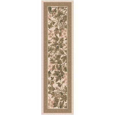 Pastiche Delphi Floral Sand Brown Rug Rug Size: Rectangle 21 x 78